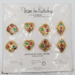 Diane Von Furstenberg Jeweled Button Covers